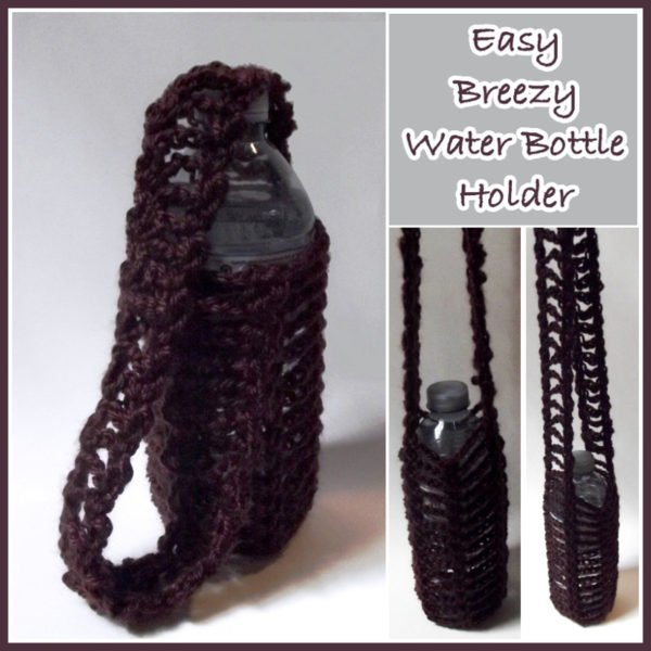 Easy Breezy Free Crochet Water Bottle Holder Pattern