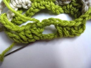 Interlocked Crochet - Step 11