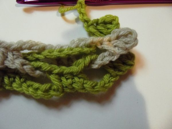 how to start your second row in crochet
