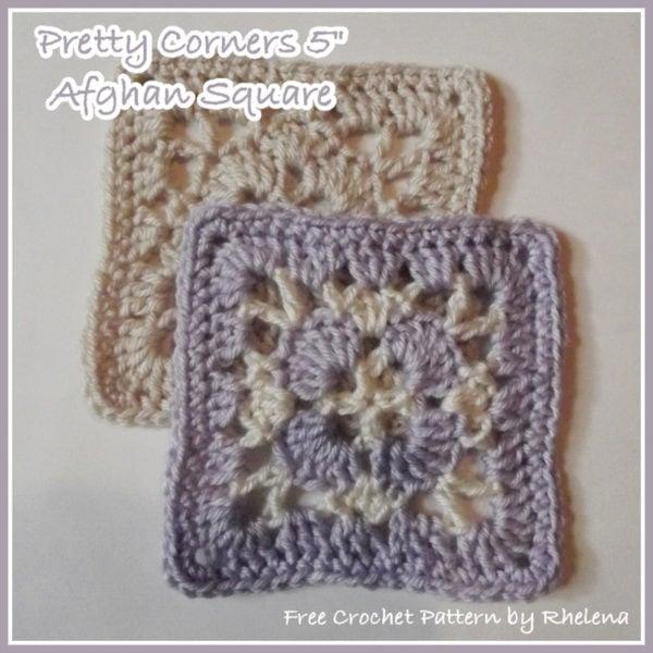 """Pretty Corners 5"""" Lacy Granny Square ~ FREE Crochet Pattern"""