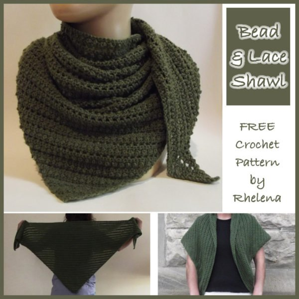 Bead and Lace Shawl ~ FREE Crochet Pattern