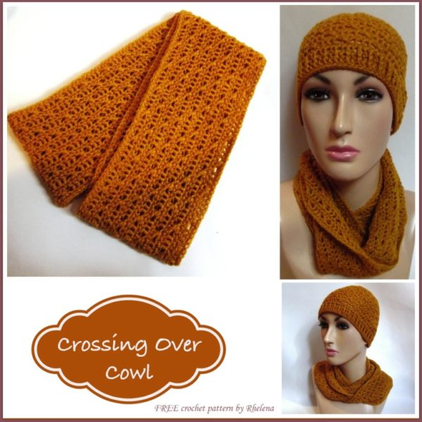 Crossing Over Cowl ~ FREE Crochet Pattern