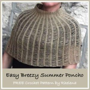 Easy Breezy Summer Poncho ~ FREE Crochet Pattern