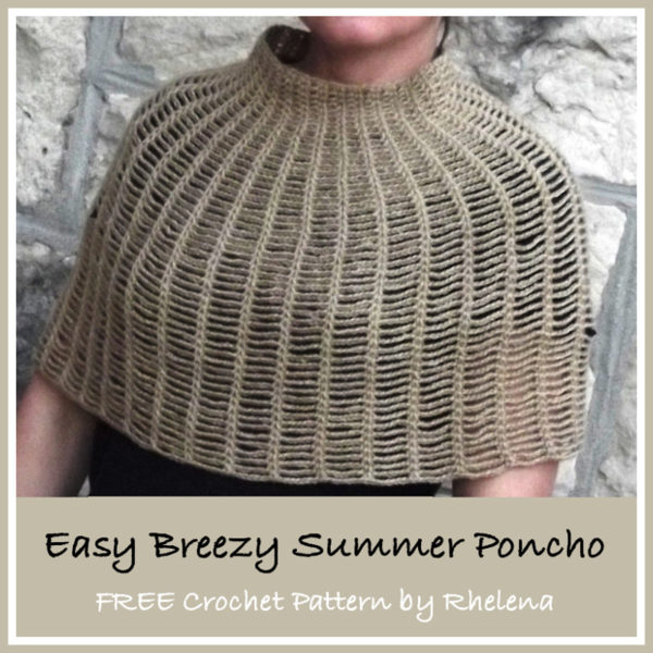 Easy Breezy Summer Poncho by CrochetN'Crafts