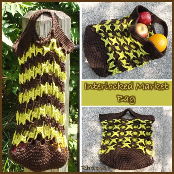 Interlocked Market Bag ~ FREE Crochet Pattern