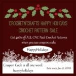 Happy Holidays Crochet Pattern Sale & Rafflecopter Giveaway