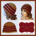 Ribbings of Gold Beanie ~ FREE Crochet Pattern