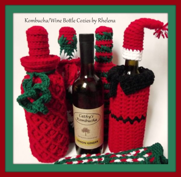 Wine Bottle Cozy Designs by Rhelena