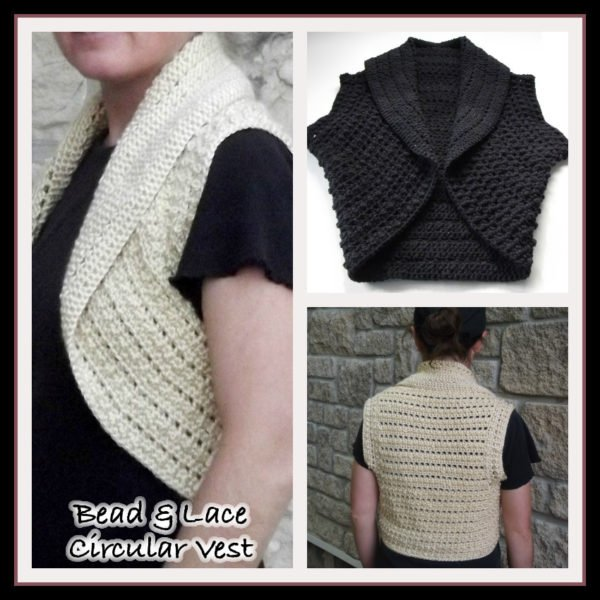 Free Crochet Pattern For Lace Vest : Bead & Lace Circular Vest ~ FREE Crochet Pattern