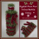 Eyelet Fun Fur Wine Bottle Cozy