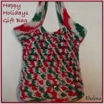 Happy Holidays Gift Bag ~ FREE Crochet Pattern