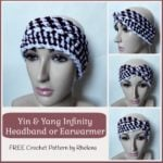 Yin & Yang Infinity Headband