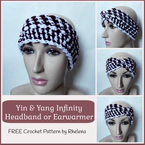 Yin & Yang Infinity Headband Earwarmer