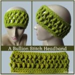 A Bullion Stitch Headband