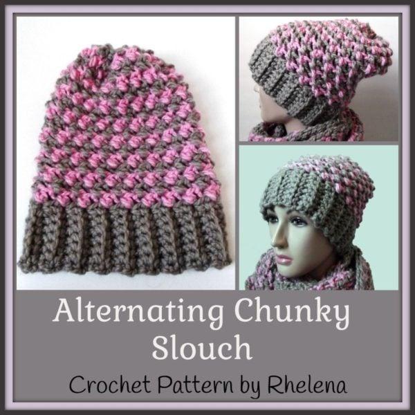 Alternating Chunky Slouch ~ FREE Crochet Pattern