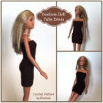 Fashion Doll Tube Dress