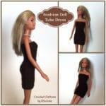 Fashion Doll Tube Dress