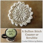 A Bullion Stitch Coaster