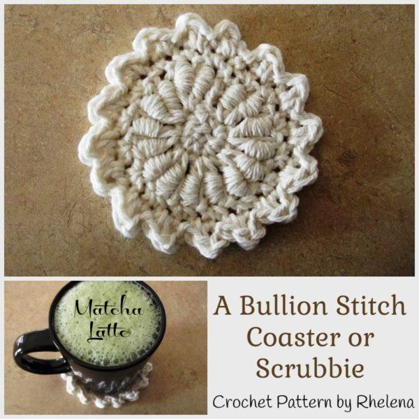 A Bullion Stitch Coaster ~ FREE Crochet Pattern