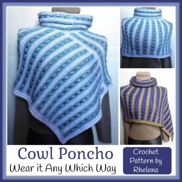 Cowl Poncho ~ FREE Crochet Pattern