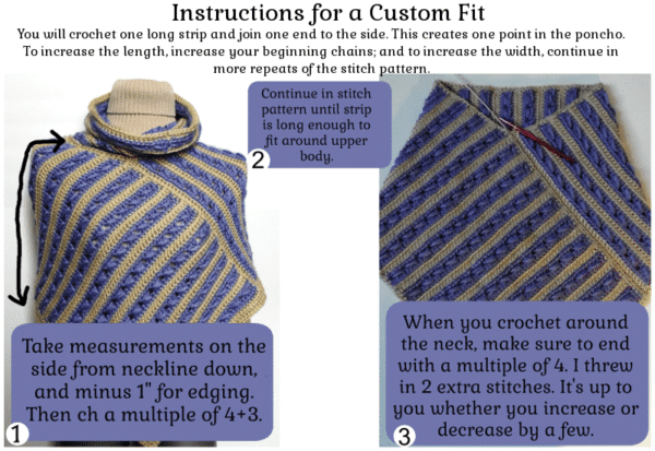 Cowl Poncho - Custom Fit Instructions