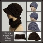 Bumpy Ridges Hat and Cowl ~ FREE Crochet Pattern