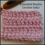 Extended Double Crochet (EDC) ~ Crochet Stitch Tutorial