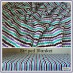 Striped Blanket ~ Free Crochet Pattern