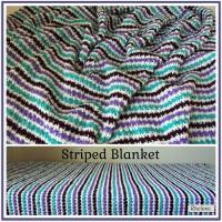 Striped Blanket ~ Free Crochet Pattern