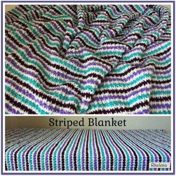 Crochet Striped Blanket