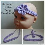 Summer Lattice Baby Headband