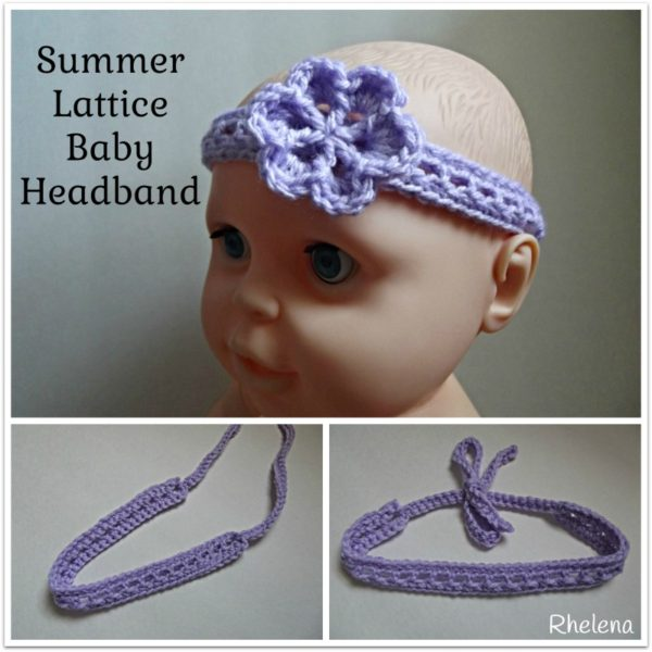 Summer Lattice Baby Headband ~ FREE Crochet Pattern