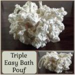 Triple Easy Bath Pouf
