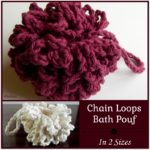 Chain Loops Bath Pouf