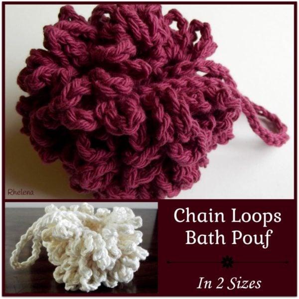 Free Crochet Pattern For Bath Pouf : Chain Loops Bath Pouf ~ FREE Crochet Pattern