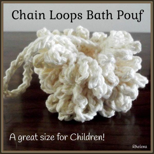 Chain Loops Bath Pouf - Child-Size
