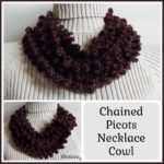 Chained Picots Necklace Cowl ~ FREE Crochet Pattern