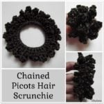 Chained Picots Hair Scrunchie