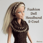 Simple Striped Headband and Cowl for the Fashion Doll