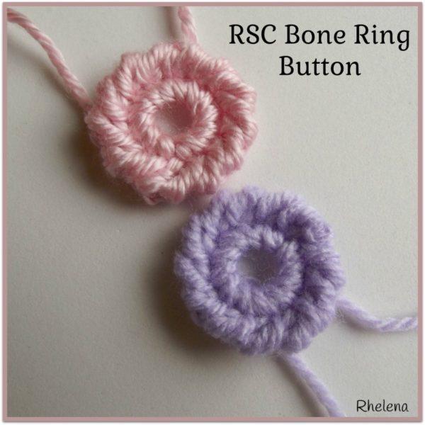 RSC Bone Ring Button ~ FREE Crochet Pattern