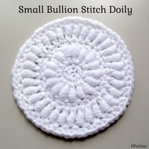 Small Bullion Stitch Doily