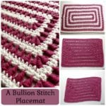 A Bullion Stitch Coaster ~ FREE Crochet Pattern by Rhelena