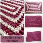 A Bullion Stitch Placemat