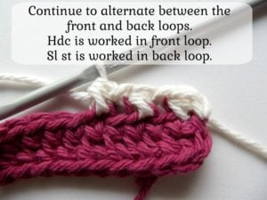 Alternating Between Front and Back Loops - 4
