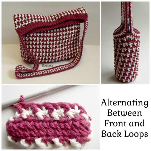 Alternating Between Front and Back Loops in Crochet