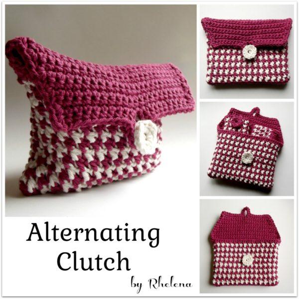 Alternating Clutch ~ FREE Crochet Pattern
