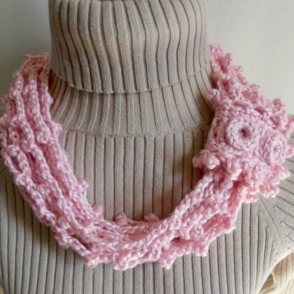 Chained Picots Cowl with Wrap