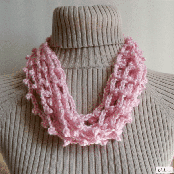 Chained Picot Necklace Cowl