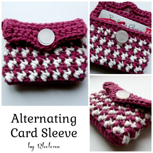 Alternating Card Sleeve ~ FREE Crochet Pattern