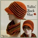 Fallin' Back Hat ~ FREE Crochet Pattern